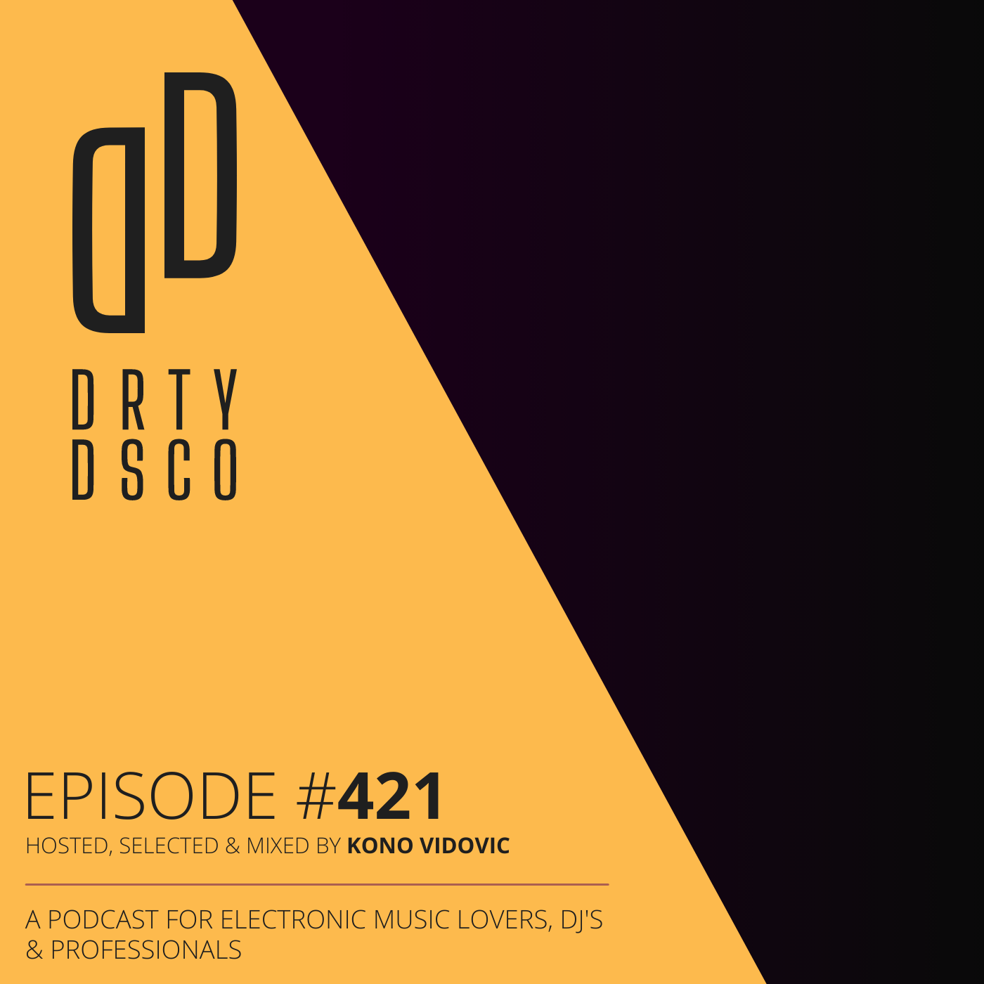 Podcast 421 | New Electronic Music Chart Show Session - Kerri Chandler - Ankle Release - Yonatan Rukhman - Demuja & more... - Dirty Disco